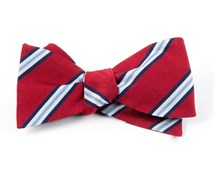 Bow Ties - PULSAR STRIPE - RED