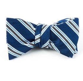 Bella Stripe Navy Bow Ties