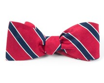 Bow Ties - HONOR STRIPE - Classic Red
