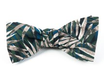 Bow Ties - CORNWALL LEAVES - BLUE