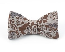 Bow Ties - HOLIDAY LACE - BROWN