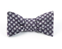 Bow Ties - HOLIDAY HOUNDSTOOTH - EGGPLANT