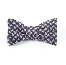 Eggplant Holiday Houndstooth By Dwyane Wade bow ties