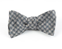 Bow Ties - HOLIDAY HOUNDSTOOTH - SILVER