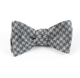 Silver Holiday Houndstooth By Dwyane Wade bow ties