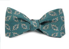 BOW TIES - TEEPEE TAPESTRY - WASHED TEAL