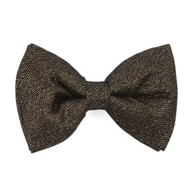 Gold Golden Quarter By Dwyane Wade bow ties