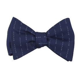 Style Pinstripe By Dwyane Wade Navy Bow Ties