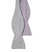 Bow Ties - MEMPHIS - BEALE ST. DOTTED PLAID - SILVER