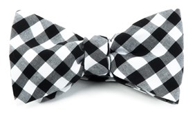 Bow Ties - COTTON TABLE PLAID - BLACK