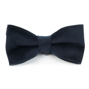 velvet midnight navy bow ties
