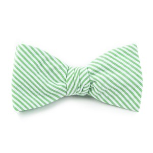 seersucker key lime bow ties