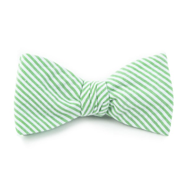 Key Lime Seersucker Bow Tie