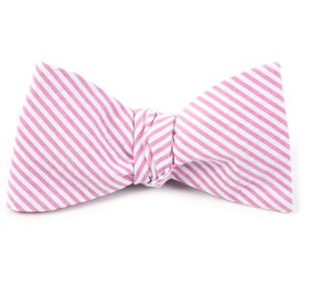 Pink Seersucker bow ties
