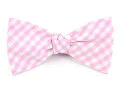 BOW TIES - NEW GINGHAM - PINK