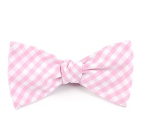 Pink New Gingham bow ties