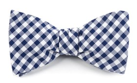 BOW TIES - NEW GINGHAM - NAVY