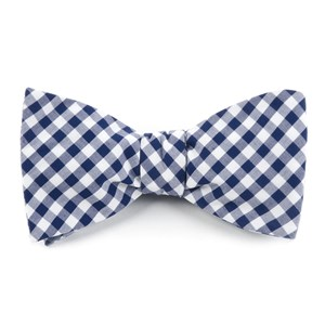 new gingham navy bow ties