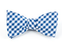 BOW TIES - NEW GINGHAM - ROYAL BLUE