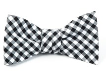 BOW TIES - NEW GINGHAM - BLACK