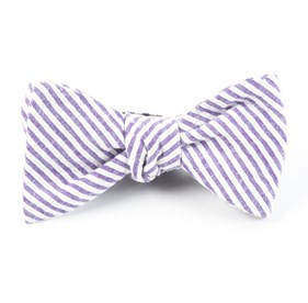 Seersucker Soft Lavender Bow Ties