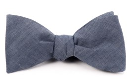 Bow Ties - CLASSIC CHAMBRAY - WARM BLUE