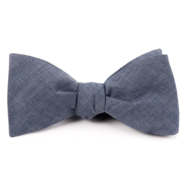 Warm Blue Classic Chambray Bow Tie