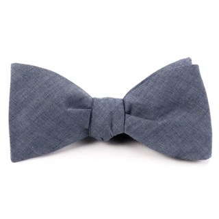 Classic Chambray Warm Blue Bow Tie