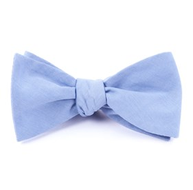 Sky Blue Classic Chambray bow ties