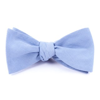 classic chambray sky blue bow ties