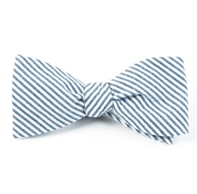 Seersucker Midnight Navy Bow Ties