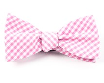 BOW TIES - NOVEL GINGHAM - PINK