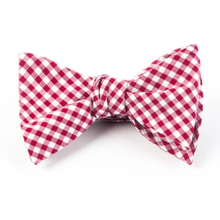 novel gingham red bow ties