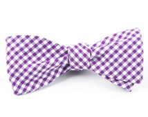 BOW TIES - NOVEL GINGHAM - PLUM