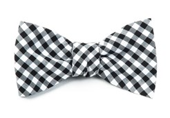 BOW TIES - NOVEL GINGHAM - BLACK
