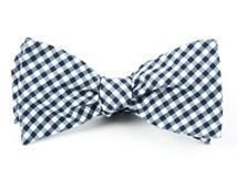 Bow Ties - Novel Gingham - Navy