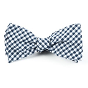 novel gingham navy bow ties