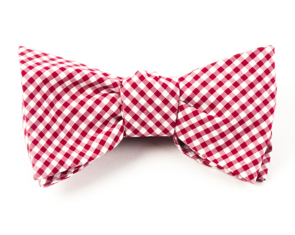75acfe3bb7e8 Red Petite Gingham Bow Tie | Men's Bow Ties | The Tie Bar