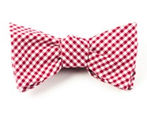 BOW TIES - PETITE GINGHAM - RED