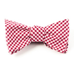 petite gingham red bow ties
