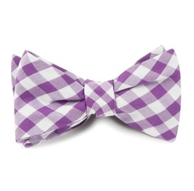 Plum Cotton Table Plaid bow ties