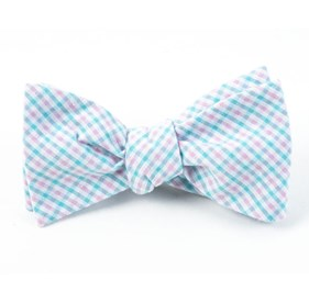 Spearmint Spring Seersucker Gingham bow ties