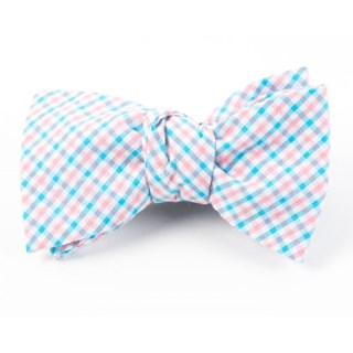 spring seersucker gingham mystic blue bow ties