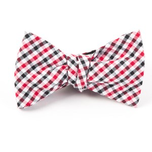 montauk seersucker gingham red bow ties