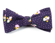 Bow Ties - OUTLAND FLORAL - EGGPLANT