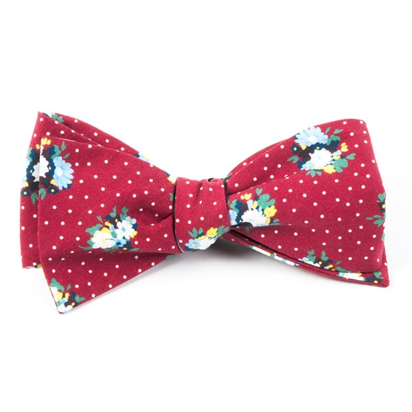 Red Outland Floral Bow Tie