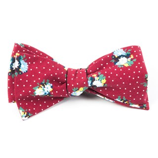 outland floral red bow ties
