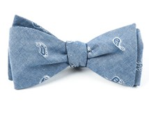 Bow Ties - CHAMBRAY TEARDROP - WARM BLUE