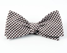 BOW TIES - PETITE GINGHAM - BROWN