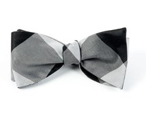 Bow Ties - Bison Plaid - Black